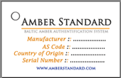 amber authenticity tag label by amber standard