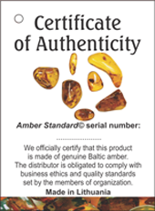 baltic amber certificates labels